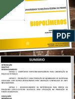 Seminário- Biopolimeros