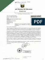 PLey 3521-2018-JNE SISTEMA DE ADHESIÓN BIOMÉTRICA EN SUSTITUCIÓN DE LA VERIFICACIÓN DE FIRMAS PARA LA IDENTIFICACIÓN DE LOS CIUDADANOS