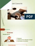 3 - El Rol Del Gerente