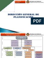 DIRECCION GENERAL DE PLANIFICACION