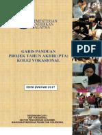 Projek Tahun Akhir Pta Kv Edisi Jan 2017