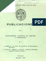 Los pisos zoogeograficos del departamento del Cuzco (1970)