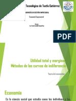 Diapositivas de Utilidad Total y Marginal y Metodos de La Curva de Indiferencia