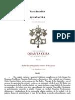 Carta Enciclica Quanta Cura - Pio IX