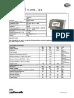 Technical Data Sheet RF Module TC69502 -US-9 Rev02