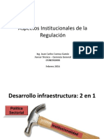 Aspectos Institucionales de La Regulación