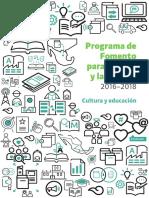 Programa de Fomento Para El Libro