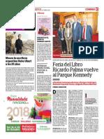 Feria Del Libro Ricardo Palma Vuelve Al Parque Kennedy