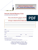 Souvenir Journal Response Form Sizes and Prices 2018