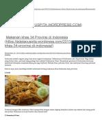 Makanan Khas 34 Provinsi Di Indonesia _ Adela P
