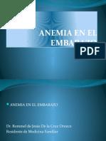Anemia e El Embarazo