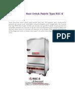 Alat Penanak Nasi Untuk Pabrik Type RSC