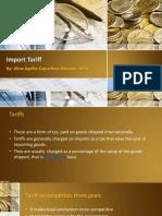 Import Tariff - Aprille Mendez