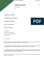 RO 294 20101006 Ley Orgánica de Servicio Público
