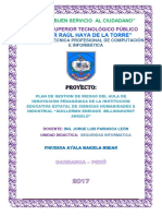 Ejemplo Proyecto Gestión de Riesgo