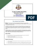 Aliman PreSchool Curriculum