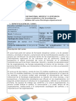 Syllabus Del Curso Sociología Organizacional