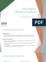 Reflexoes Sobre Psicologia No Brasil