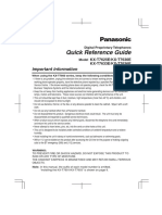 KX-T7625-30!33!36 Quick Reference Guide