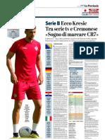 La Provincia Di Cremona 13-10-2018 - Serie B