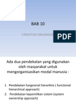 Bab 10 Struktur Organisasi