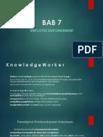Bab 7 Employee Empowerment