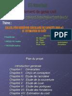 PFE Ingéniorat Hydraulique Dimensionnement d'Un Réservoir Circulaire Présentation KADI