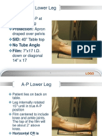 Copy of Week 8 Lower Leg to Calcaneus, Technique Charts 66