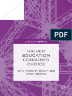 Higher Education Consumer Choice(1)
