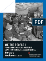 We the people I; Fundamentos de la historia constitucional estadounidense —Bruce Hackerman,  Trad. Josep Sarret Grau. Edit. Traficantes de Sueños.pdf