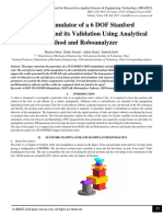 Matlab Simulator of a 6 DOF Stanford Manipulator and its Validation Using Analytical Method and Roboanalyzer