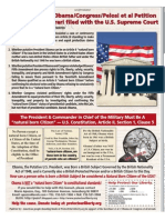 Kerchner v Obama Petition for Writ of Cert filed with Supreme Court-11Oct10 issue Wash Times Wkly