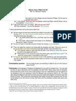 Hebraic Analysis of Mark 8-27-38