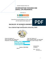 8319. Consumer Perception Towards IDBI Federal Life Insurance
