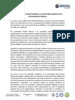 Comunicado de UniAtlántico tras reunión del  Consejo Académico