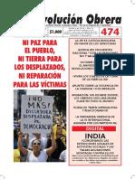 Periódico Revolución Obrera No. 474 octubre de 2018