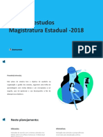 2ª Fase Plano Extensivo Magistratura Estadual 20181