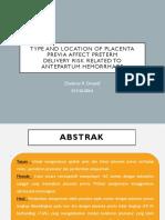 Type and Location of Placenta Previa Affect Preterm