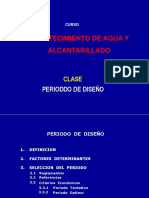 Clase 2 - Periodo de Diseño