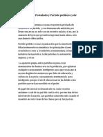 Definición de Postulado y Partido Políticos y de Democracia