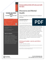 Folleto Discourse and Mental Health