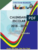 05 Calendario Escolar Ciclo - 2018 2019