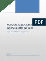 Plano de Negócio Para a Empresa Little Big Shop
