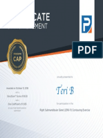 certificate - submandibular