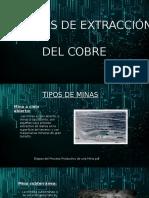 TECNOLOGÍA USADA EN LAS ETAPAS DE PRODUCCIÓN DEL COBRE