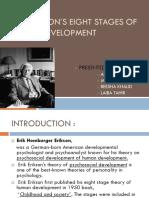 Erik Eriksons Eight Stages of Human Development