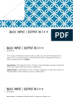 Basic Input