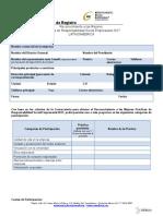 Formato de Registro MP 2017 LATAM
