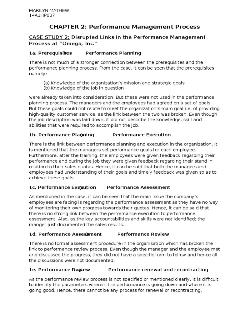 case 2   Performance Appraisal   Performance Management