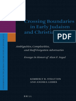 STRATTON Kimberly B and LIEBER Andrea Eds 2016 Crossing Boundaries in Early Judaism and Christianity Essays in Honor